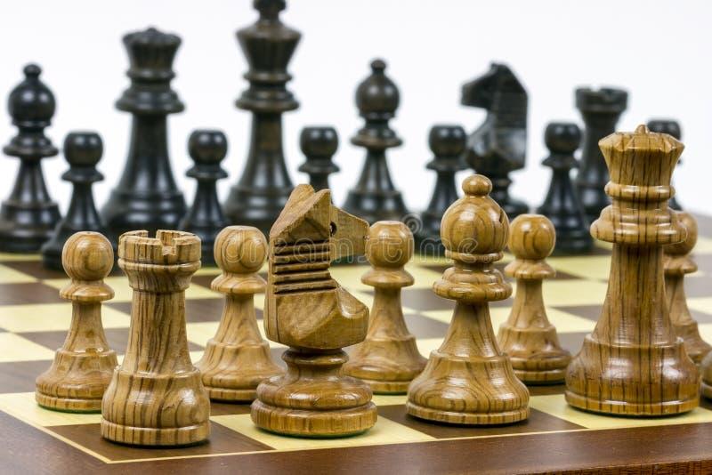 Conjunto de figuras del ajedrez fotos de archivo