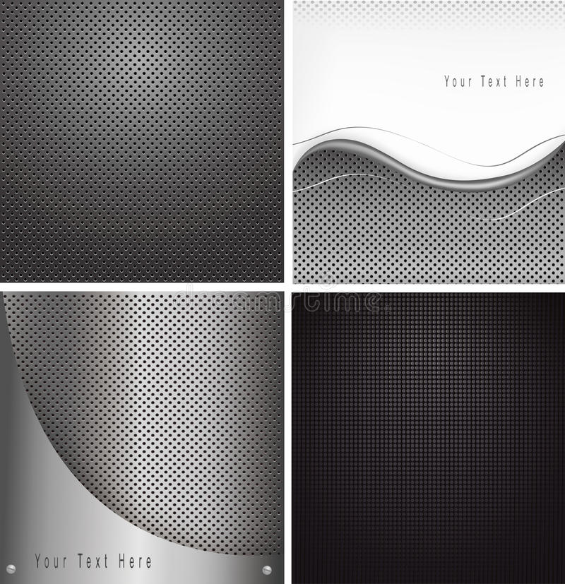 Conjunto de fondos abstractos de la textura ilustración del vector