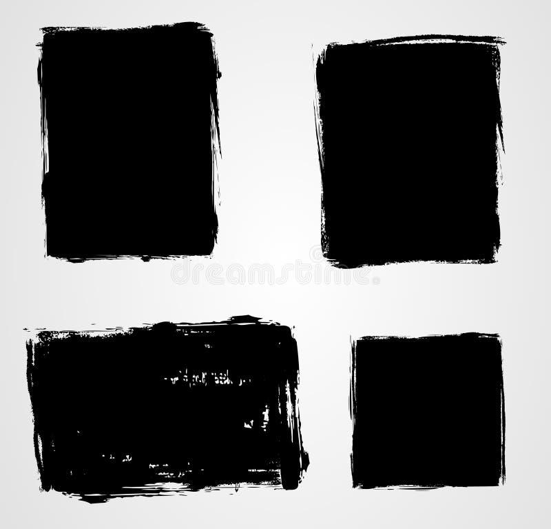 Conjunto de fondos del grunge stock de ilustración