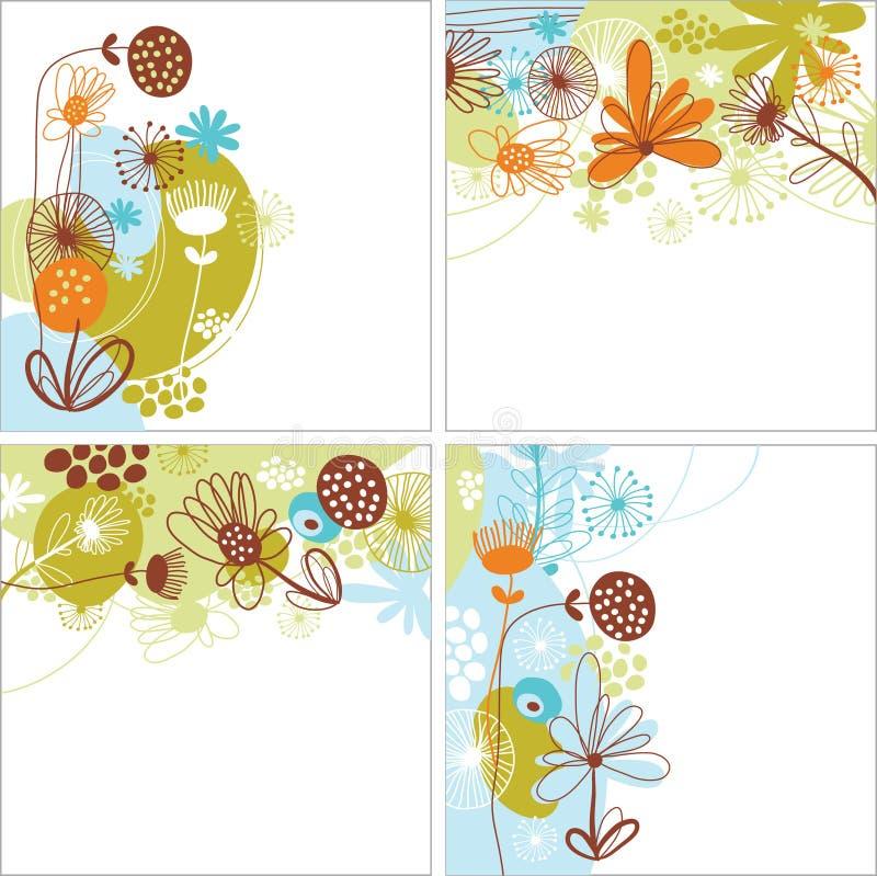 Conjunto de fondos florales libre illustration