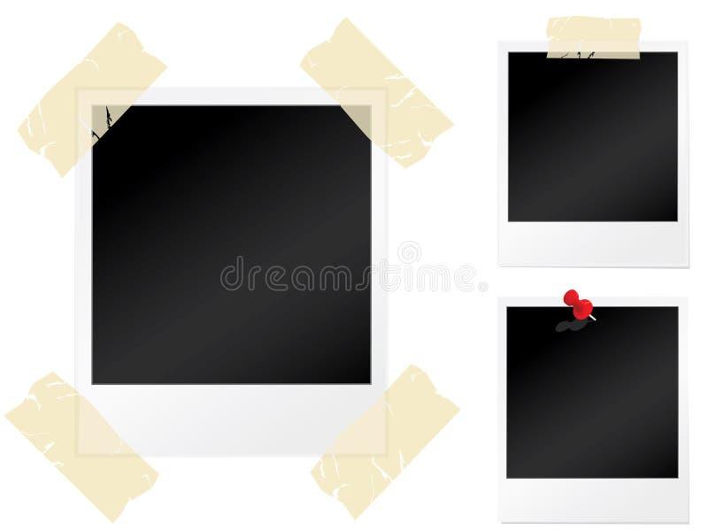 Conjunto de fotografías en blanco ilustración del vector