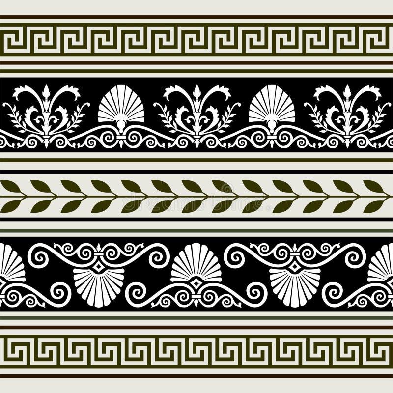 Conjunto de fronteras antiguas ilustración del vector