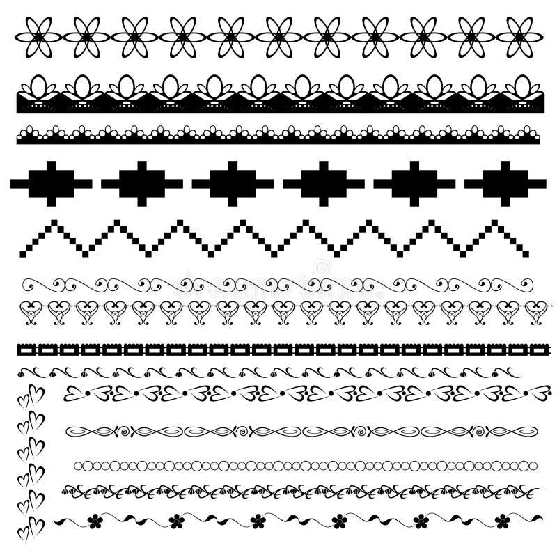 Conjunto de fronteras blancos y negros