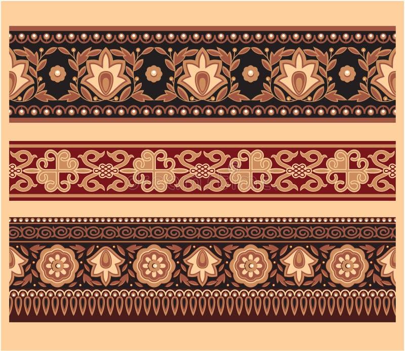 Conjunto de fronteras orientales ilustración del vector