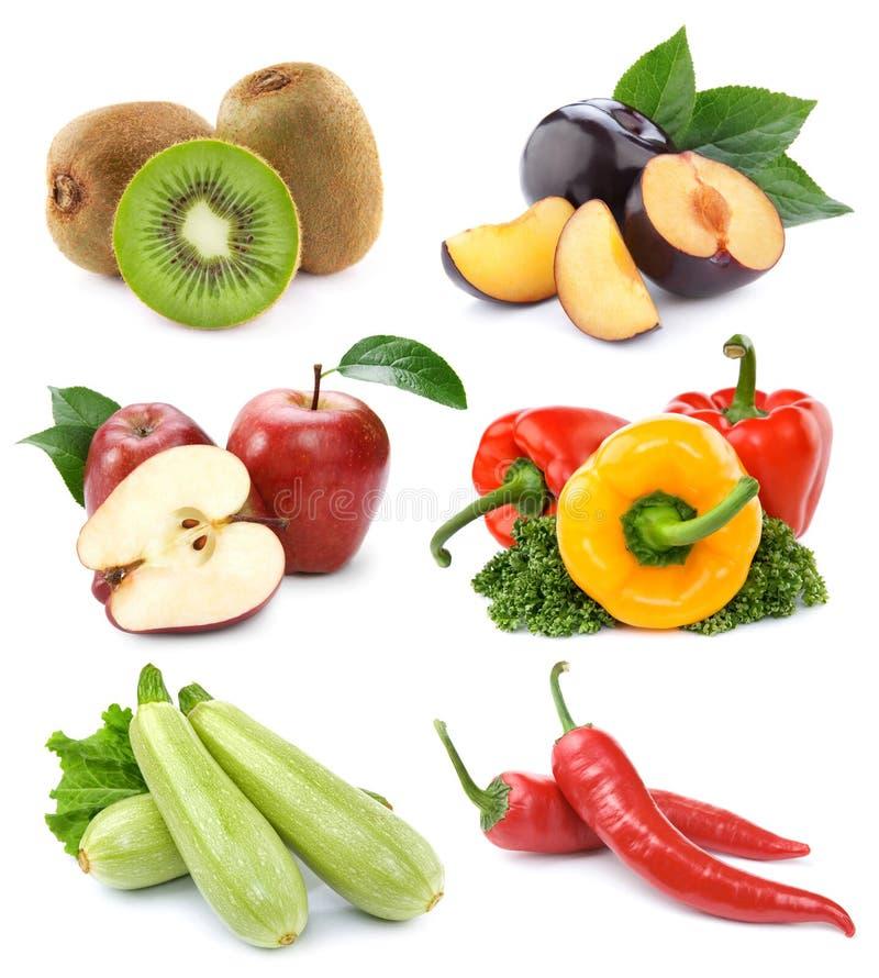 Conjunto de frutas y verdura imagen de archivo libre de regalías