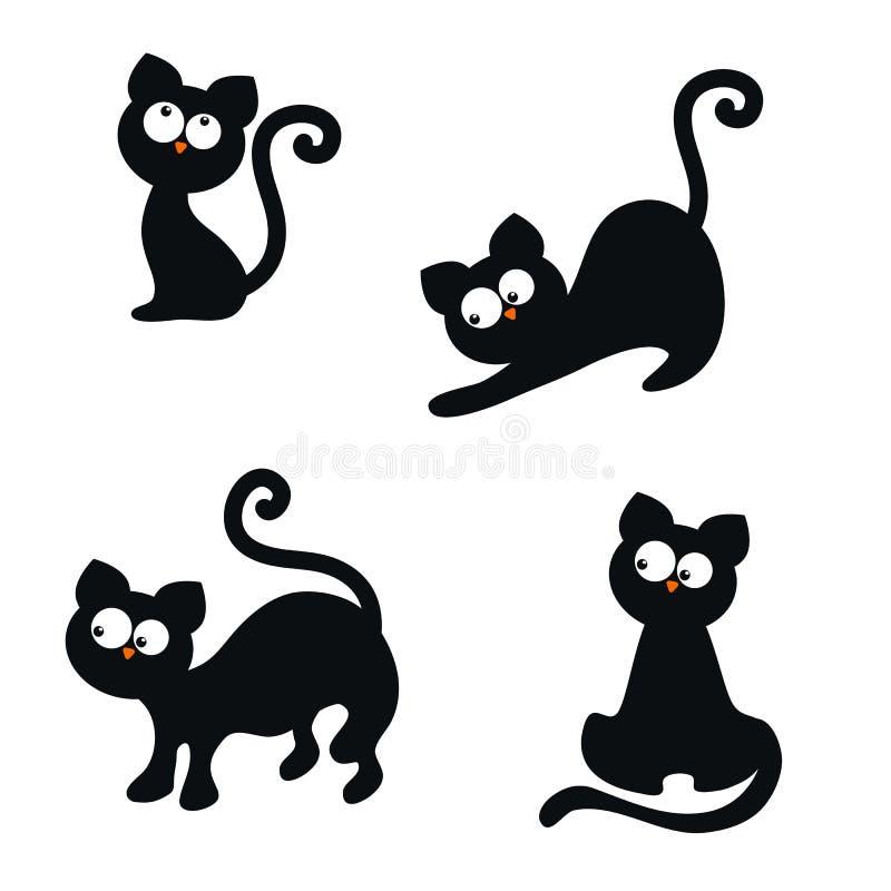 Conjunto de gatos lindos ilustración del vector