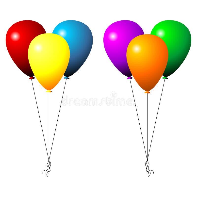 Conjunto de globos stock de ilustración
