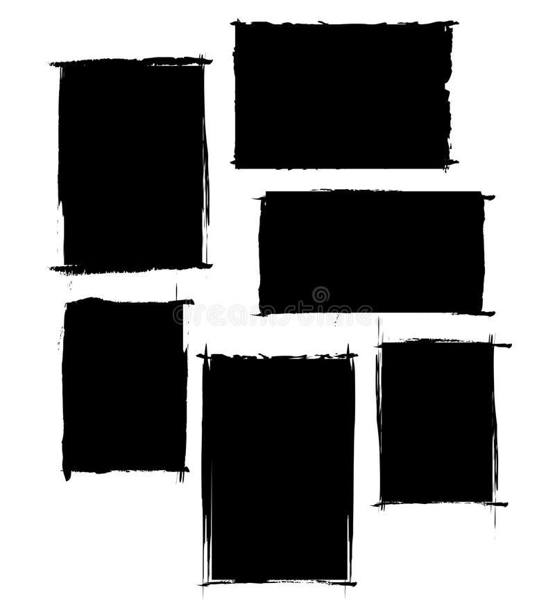 Conjunto de Grunge ilustración del vector