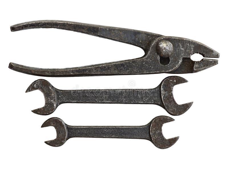Conjunto de herramienta antiguo imagen de archivo