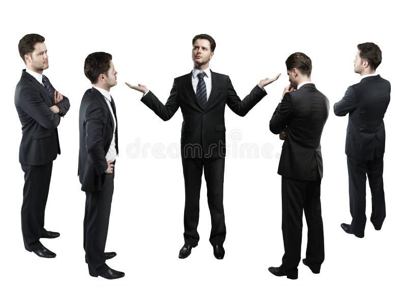 Conjunto de hombres de negocios. fotografía de archivo libre de regalías