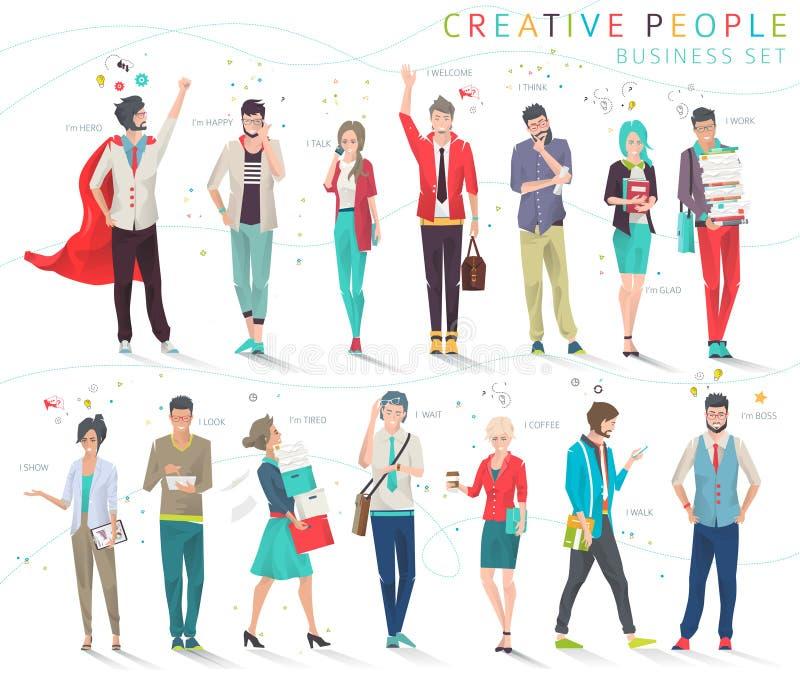 Conjunto de hombres de negocios libre illustration
