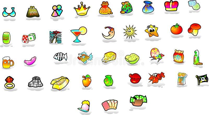 Conjunto de iconos fotos de archivo libres de regalías