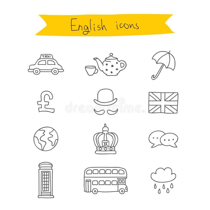 Conjunto de iconos británicos Vector stock de ilustración