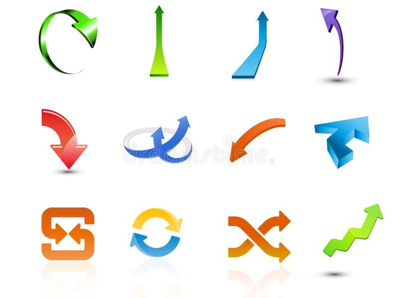 Conjunto de iconos de la flecha libre illustration