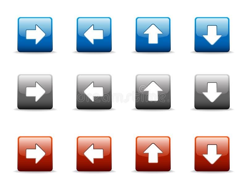 Conjunto de iconos de la flecha direccional libre illustration