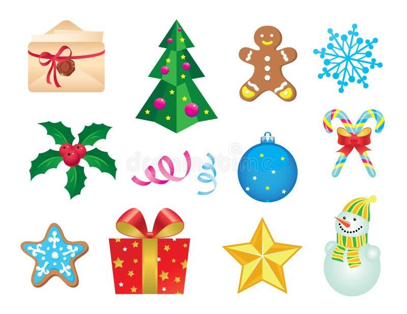 Conjunto De Iconos De La Navidad Fotografía de archivo libre de regalías