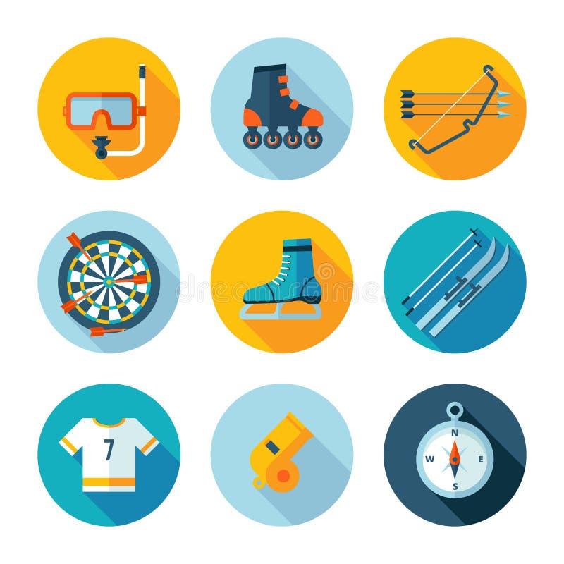 Conjunto de iconos de los deportes stock de ilustración