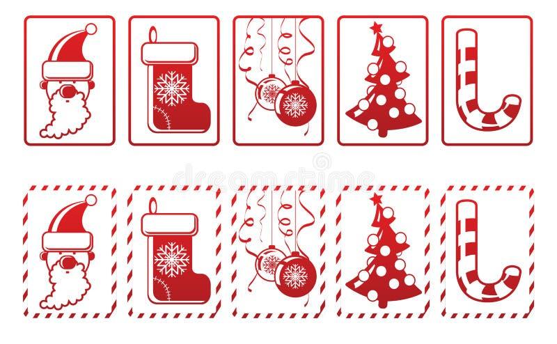 Conjunto de iconos del Año Nuevo del vector ilustración del vector
