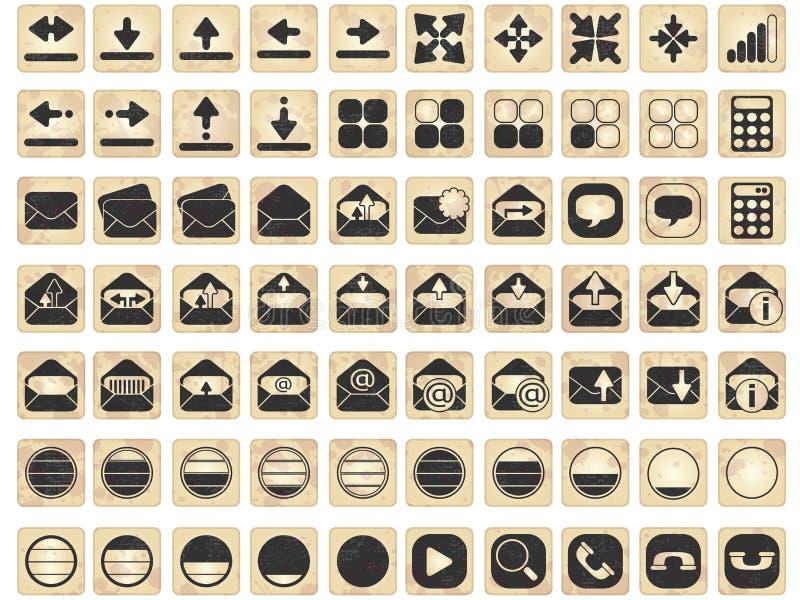 Conjunto de iconos del asunto libre illustration