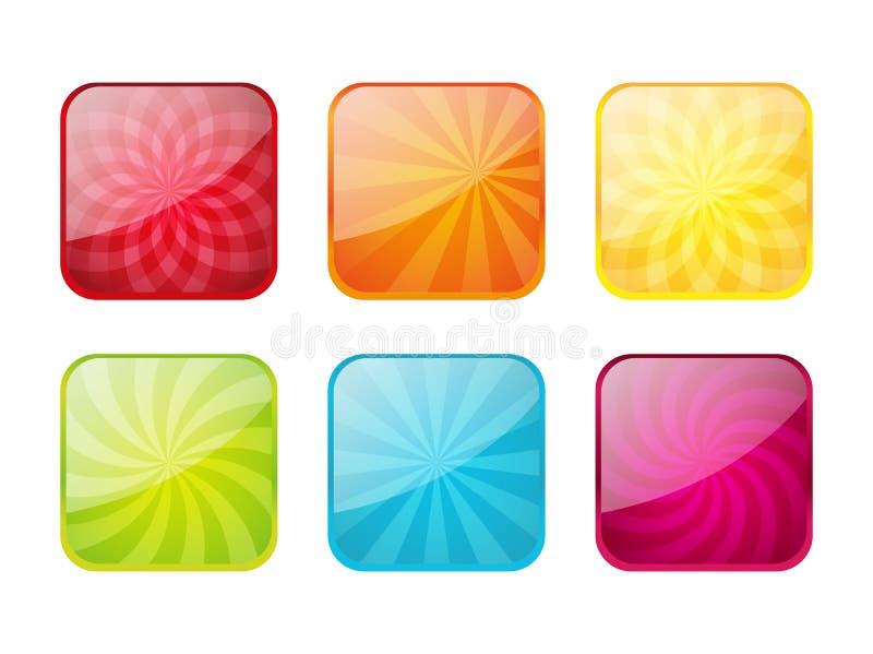 Conjunto de iconos del color ilustración del vector