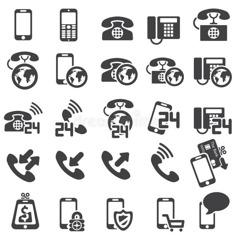 Conjunto de iconos del teléfono ilustración del vector