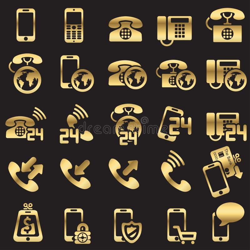 Conjunto de iconos del teléfono stock de ilustración