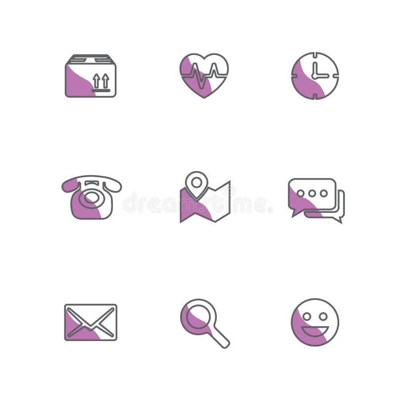 Conjunto de iconos del vector ilustración del vector