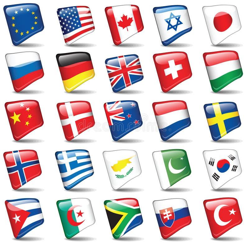 Conjunto de indicadores del mundo stock de ilustración