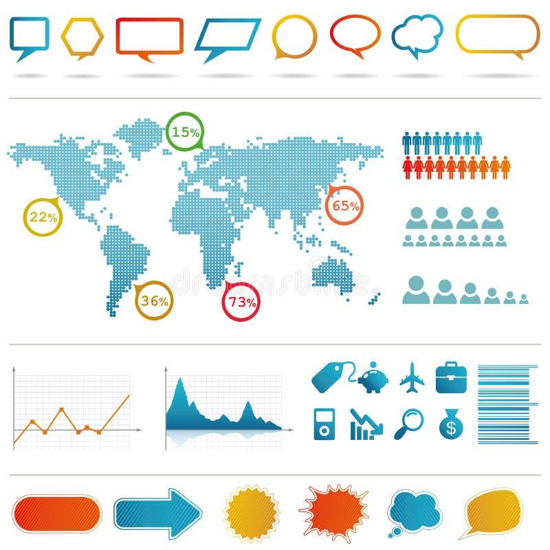 Conjunto de Infographics. stock de ilustración