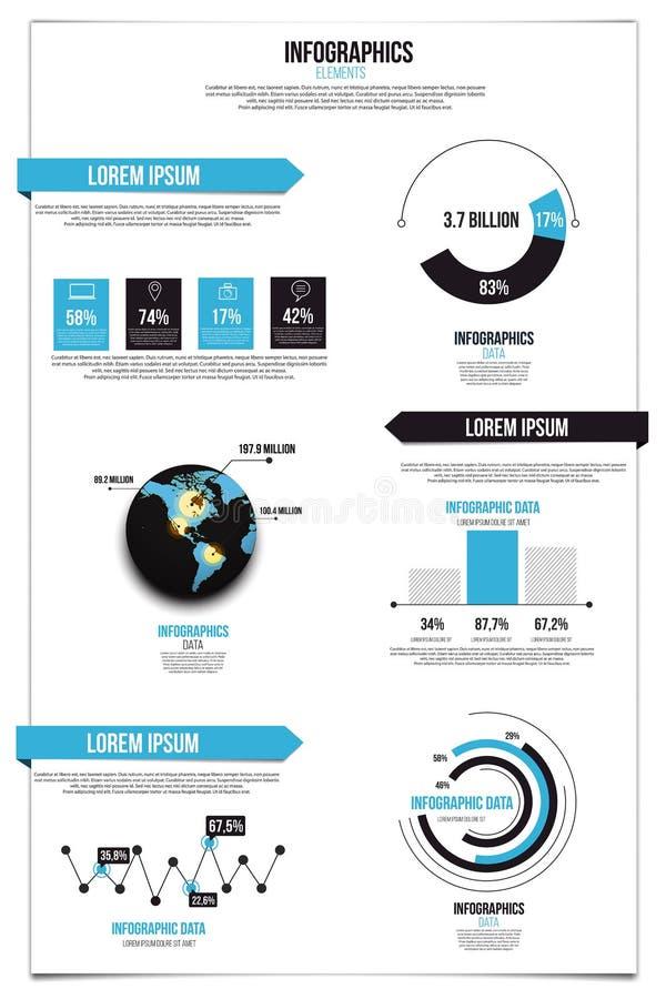 Conjunto de Infographics Gráficos y elementos libre illustration