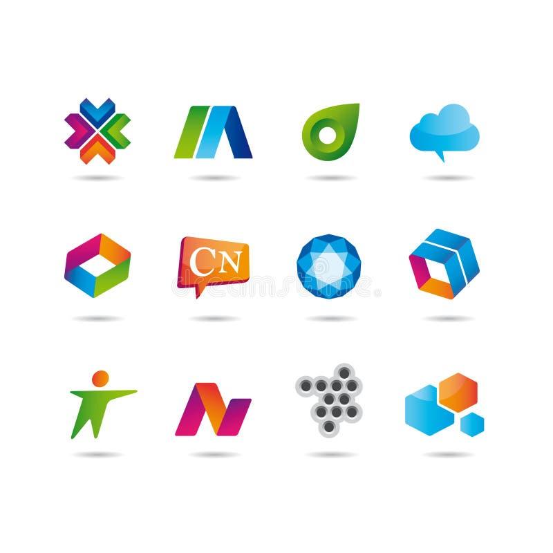 Conjunto de insignia y de iconos libre illustration