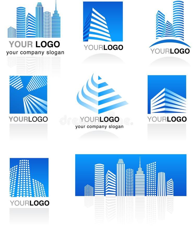 Conjunto de insignias de las propiedades inmobiliarias libre illustration