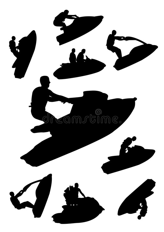 Conjunto de Jetski libre illustration