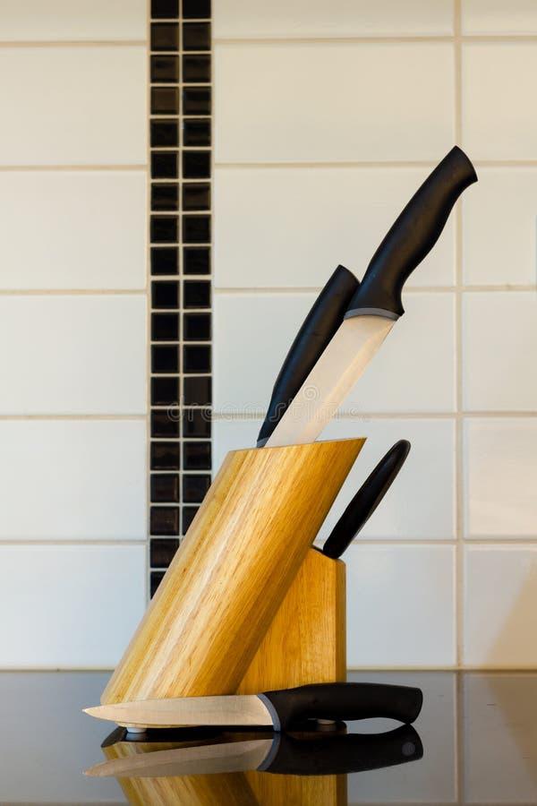 Conjunto de knifes de la cocina foto de archivo libre de regalías