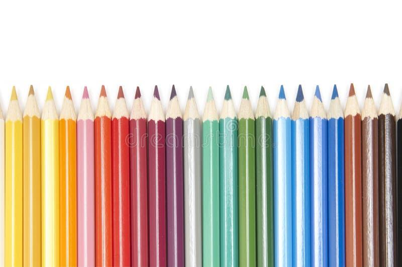 Conjunto de lápices del color foto de archivo