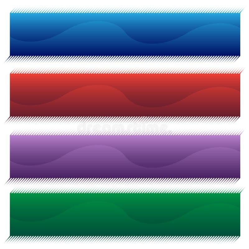 Conjunto de la bandera de la onda stock de ilustración