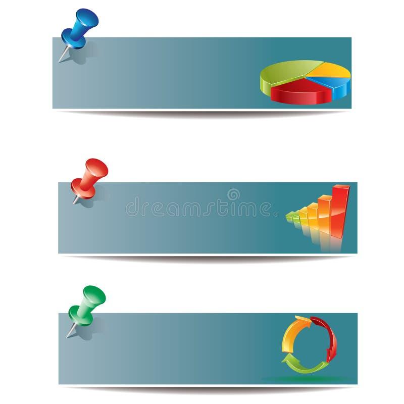 Conjunto de la bandera del asunto stock de ilustración