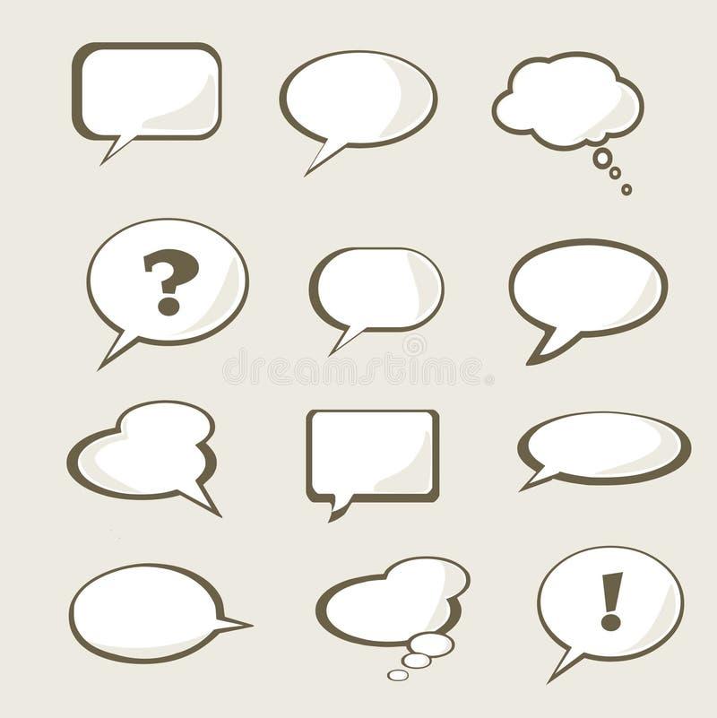 Conjunto de la burbuja del discurso ilustración del vector