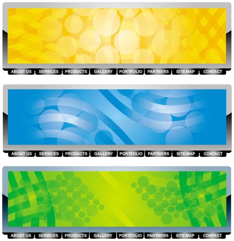 Conjunto de la cabecera ilustración del vector