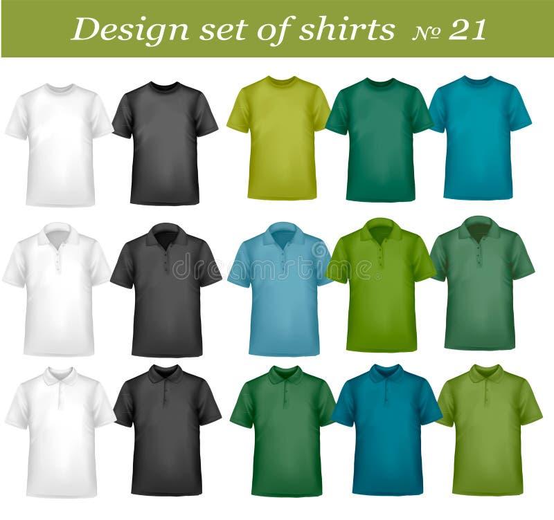 Conjunto de la camisa del diseño. stock de ilustración