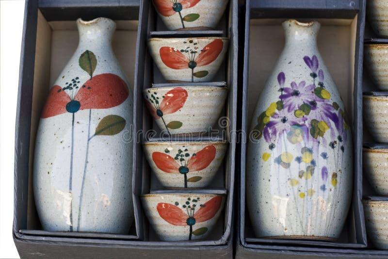 Conjunto de la cerámica de China imagen de archivo libre de regalías