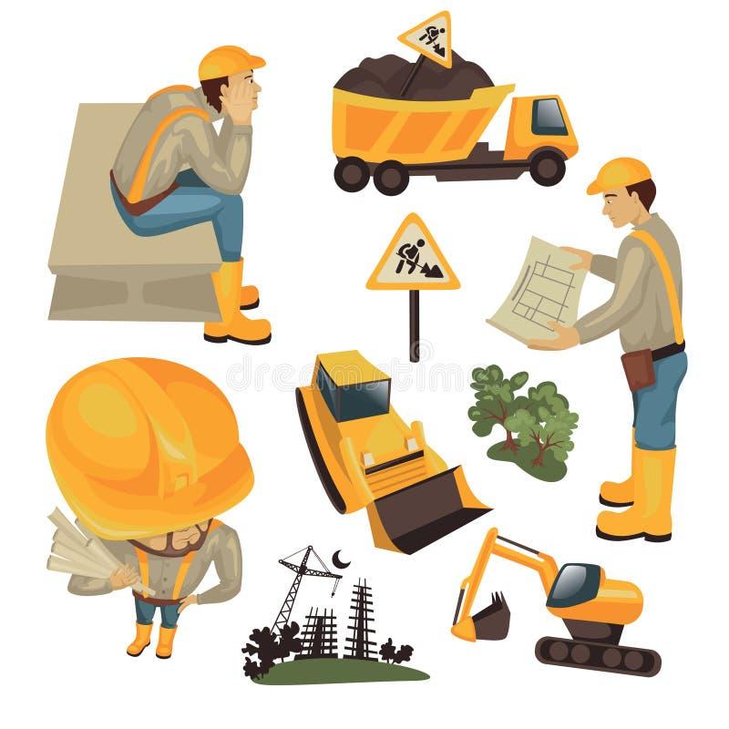 Conjunto de la construcción stock de ilustración