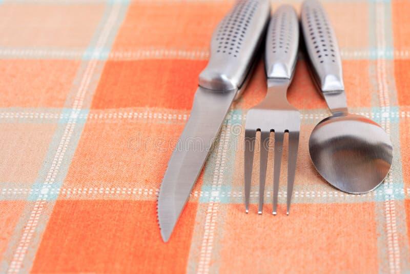Conjunto de la cuchillería fotos de archivo