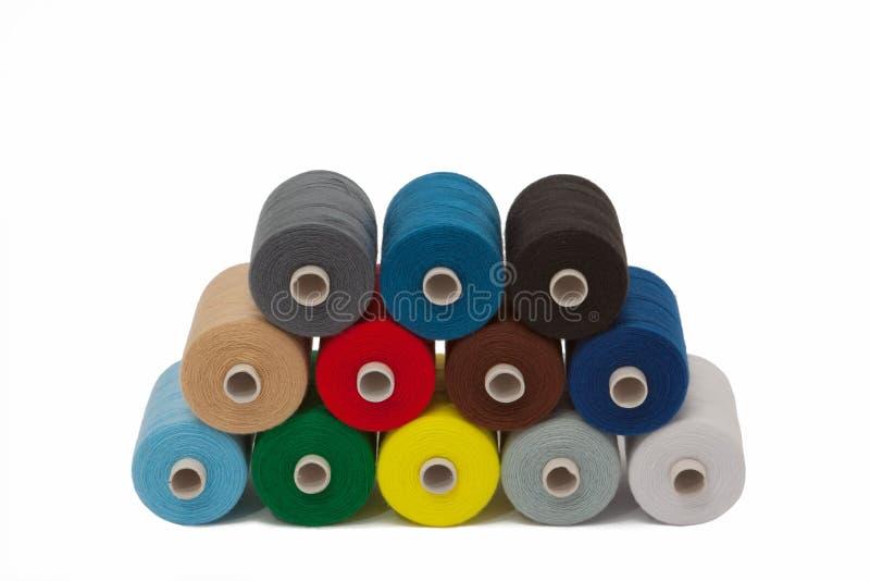 Conjunto de la cuerda de rosca coloreada fotos de archivo libres de regalías