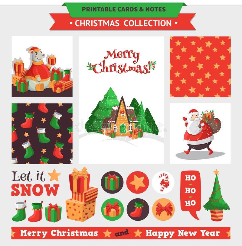Conjunto de la Feliz Navidad libre illustration