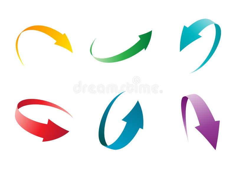 Conjunto de la flecha stock de ilustración