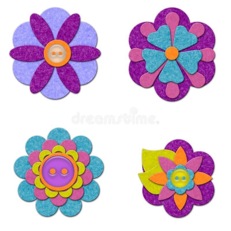 Conjunto de la flor del fieltro libre illustration
