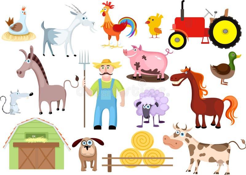 Conjunto de la granja ilustración del vector