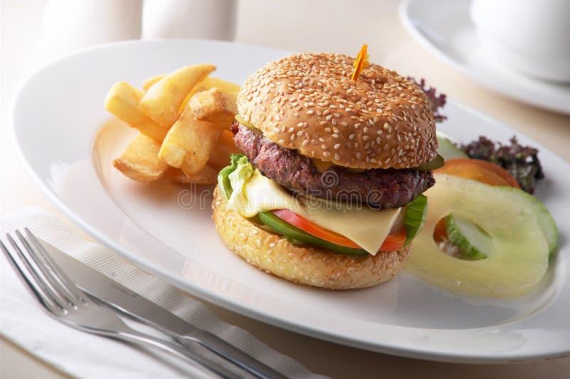 Conjunto de la hamburguesa imagen de archivo libre de regalías