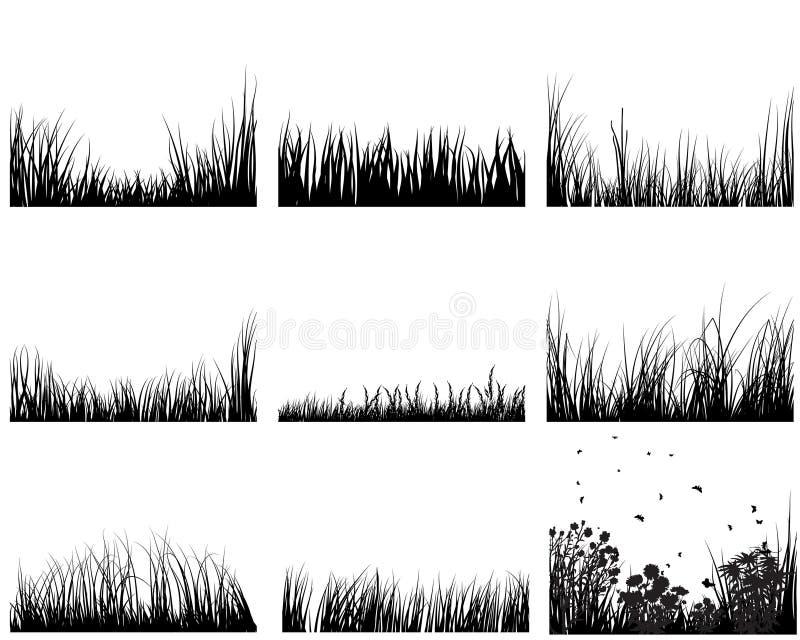 Conjunto de la hierba ilustración del vector